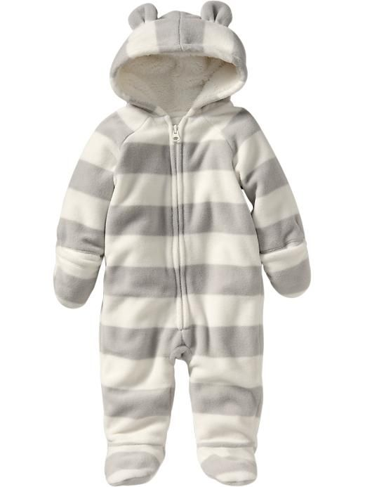 Micro Performance Fleece Footed One-Pieces for Baby