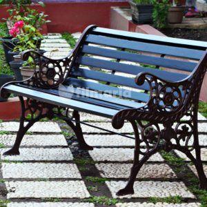 kursi taman panjang besi cor 3