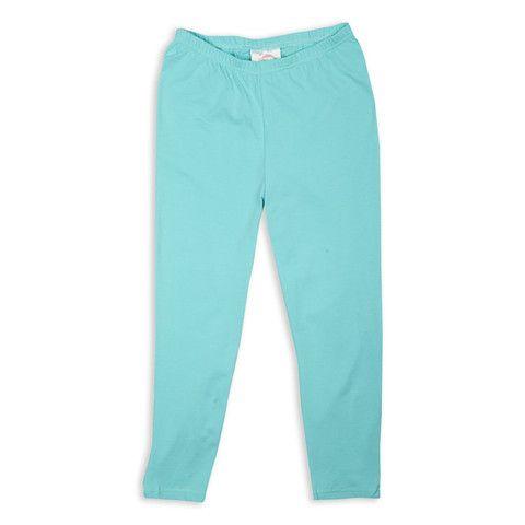 Ladies Aqua Cotton Capri Leggings – Lolly Wolly Doodle