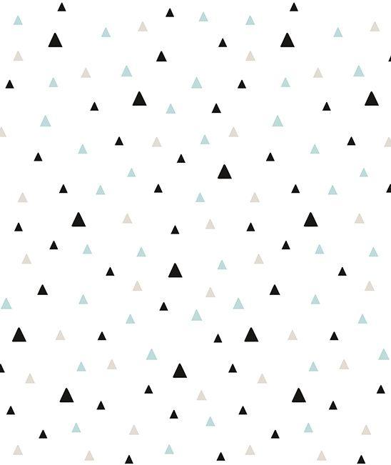 Origami Play Driehoekjes Mint - Behang (M)