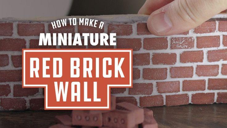 Mini Materials | How to make a Mini Red Brick Wall