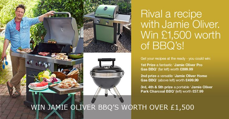 #Competition | Find out how to win £1,500 worth of #BBQs this summer in our #JamieOliver rival a recipe competition: http://goo.gl/h8Z12k