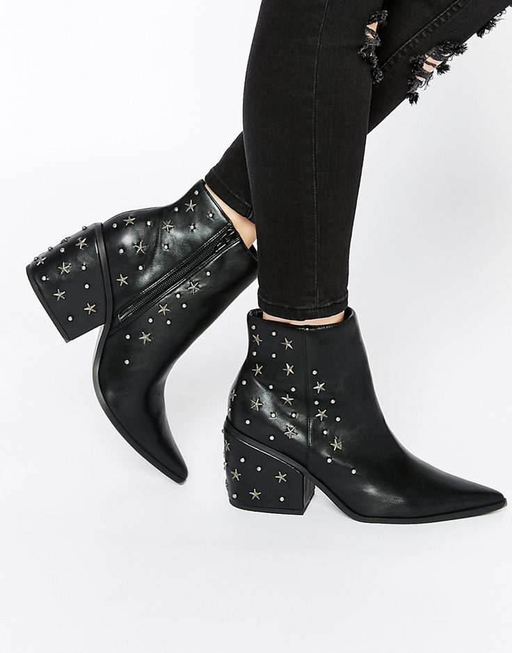 17 Best Ideas About Studded Ankle Boots On Pinterest