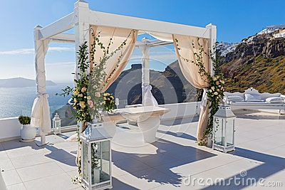 Wedding Decorations, Greece, Santorini - Download From Over 60 Million High Quality Stock Photos, Images, Vectors. Sign up for FREE today. Image: 92982999