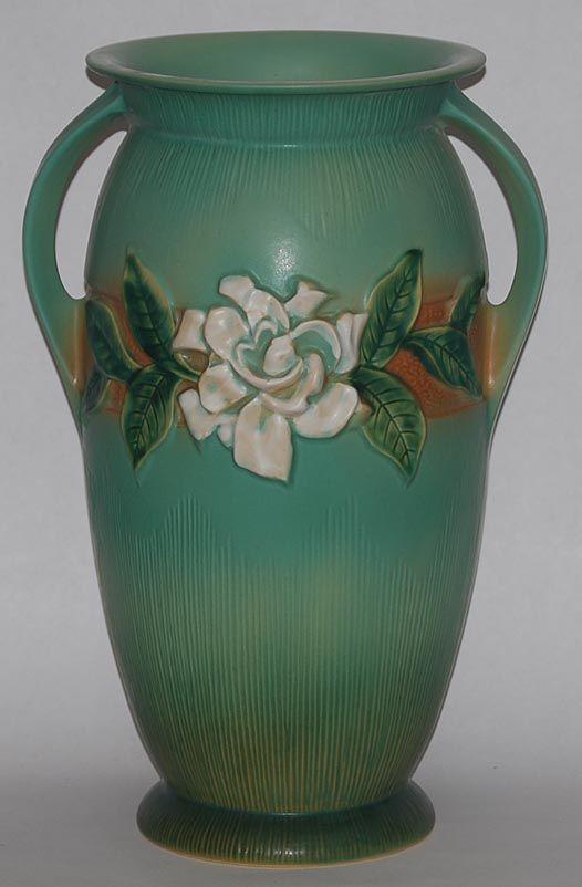 Roseville Pottery Gardenia Green Vase