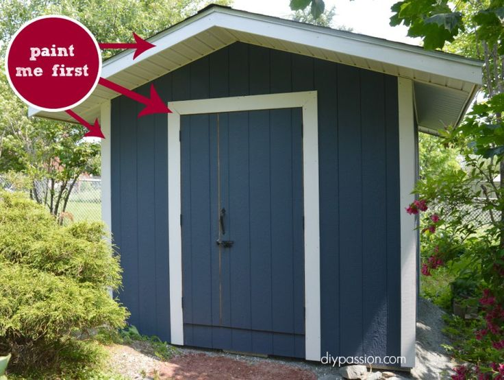 Garden Sheds Painted simple painted garden sheds ideas wanted to update our old metal