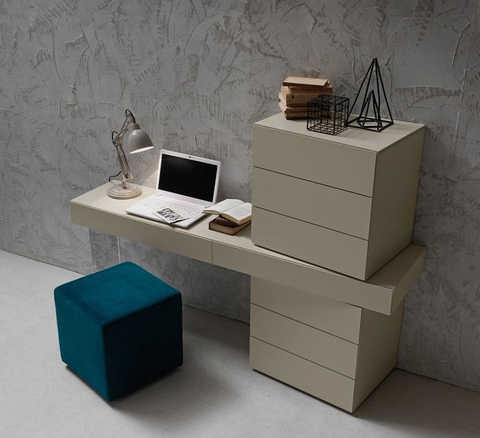 For an angular look we like this super modern dressing table #coolfurniture #modernbedrooms