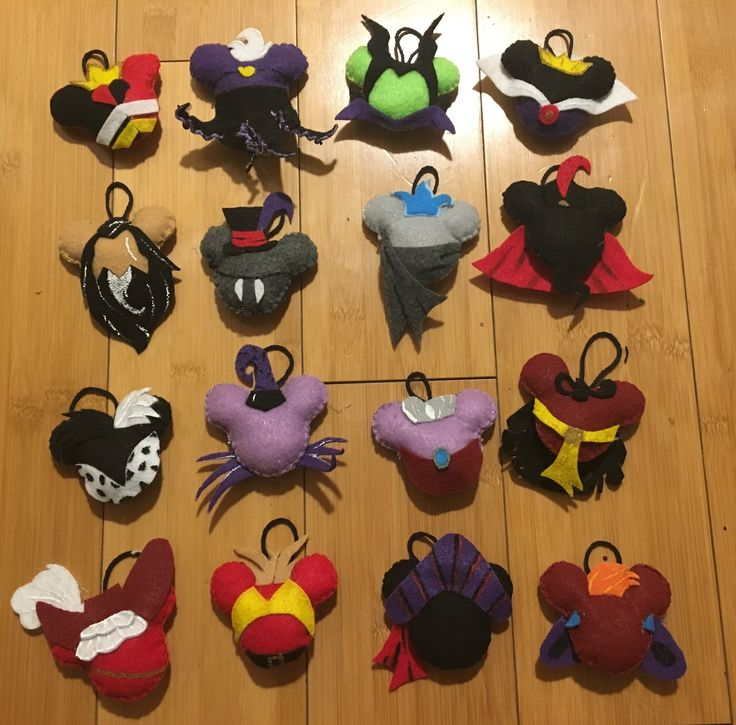 Disney Villain Inspired Felt Ornaments Made by DznyKraze @dznykraze #DIY #disneycrafts #madebyME http://www.etsy.com/shop/KrazeCrafts