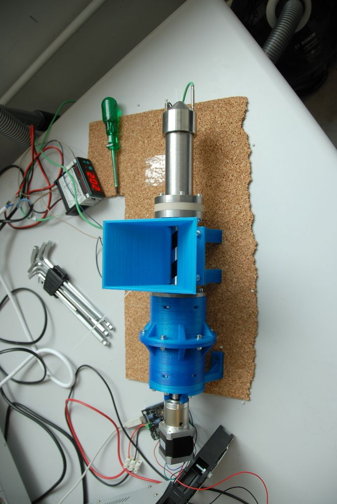 UPDATE, I have got the OK to upload the drawings and other files needed to make this Extruder to the Universities' website. Not sure if in future I may upload the files to Thingiverse, but for now you can see most of the files here: http://www.pe.mw.tum.de/fileadmin/w00bft/www/zip/Konstruktionszeichnungen_Extruder.7z The list of files there isn't yet complete but I am working towards that. If I find time I may add a BOM and instructions as well...