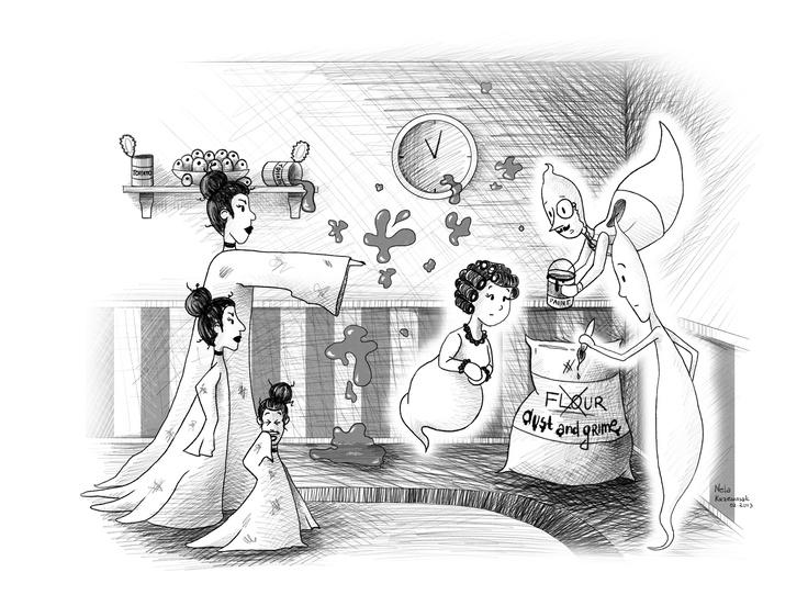 Chatswood Spooks #3 interior illustrations #kidlit #ghosts #spooky