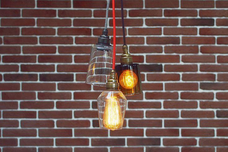 Оригинальный дизайнерский светильник для ретро-ламп в стиле лофт из стекла разных форм. Идеально для бара или кафе, гостиной или спальни.