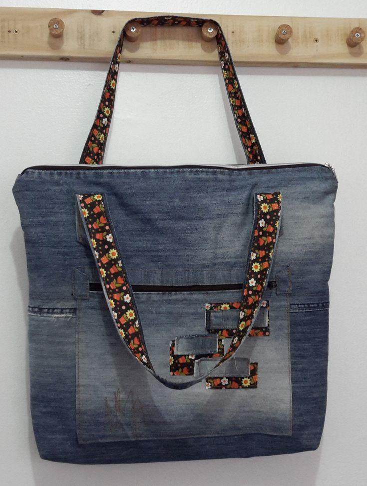 Bolsa De Tecido E Jeans : Best denim redo s images on bag
