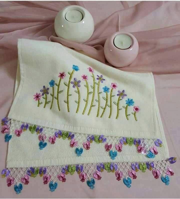 iğne oyası küçük havlu modelleri