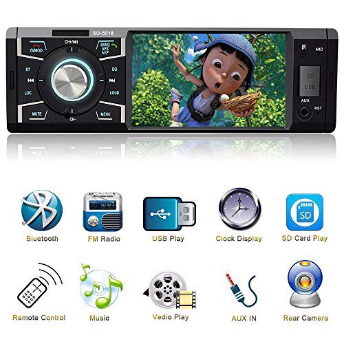 4.1 Inch Single Din Car Stereo MP5 Player with Bluetooth FM Radio Car Audio player 1080P Video Support USB SD Card AUX Input Wireless Remote Control. For product info go to:  https://www.caraccessoriesonlinemarket.com/4-1-inch-single-din-car-stereo-mp5-player-with-bluetooth-fm-radio-car-audio-player-1080p-video-support-usb-sd-card-aux-input-wireless-remote-control/
