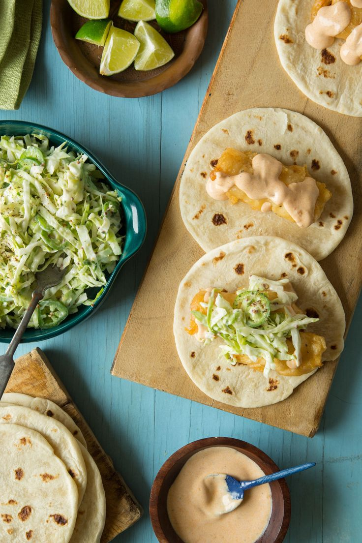 A recipe for Baja Style Fish Tacos with a Jalapeno Slaw!