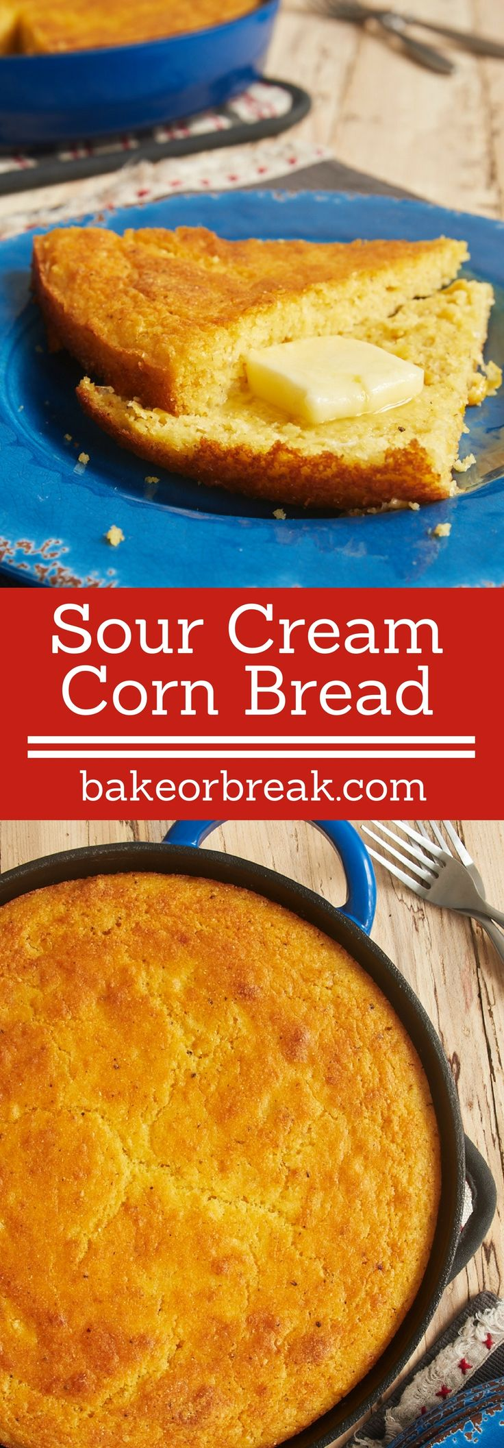 This quick and easy Sour Cream Corn Bread is a great companion to so ...