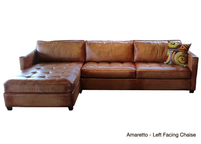 Amaretto - Artistic Chaise Leather Sectional