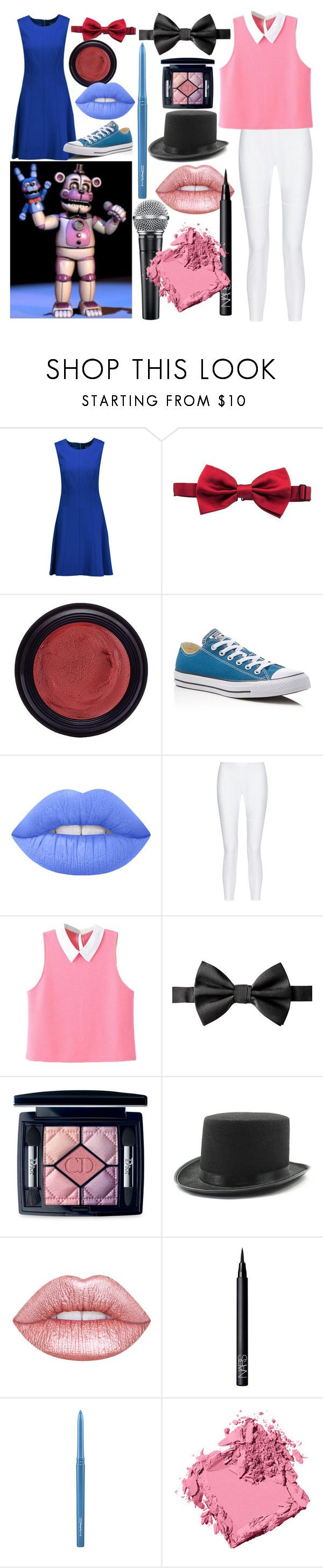 """""""FNAF Sister Location Funtime Freddy And Bonnie Puppet"""" by dappershadow ❤ liked on Polyvore featuring Magaschoni, Dolce&Gabbana, Real Purity, Converse, Lime Crime, 10 Crosby Derek Lam, WithChic, Christian Dior, NARS Cosmetics and MAC Cosmetics"""