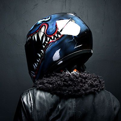 Venom Airbrushed Motorcycle Helmet Full Face Paint Dot | eBay