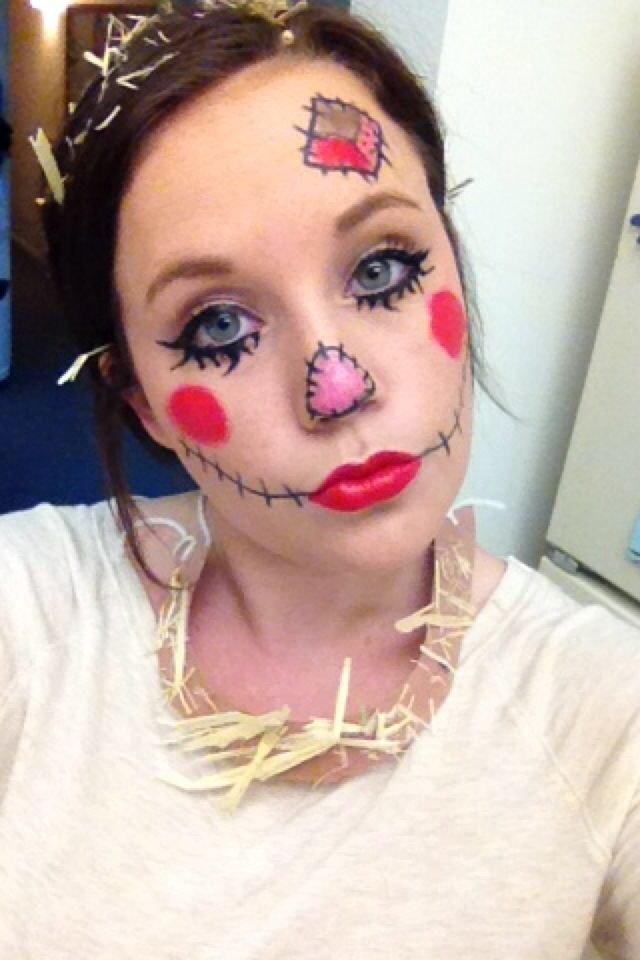 Scarecrow face paint for Halloween!!
