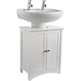 Buy tongue and groove under sink storage unit white at for Bathroom accessories argos