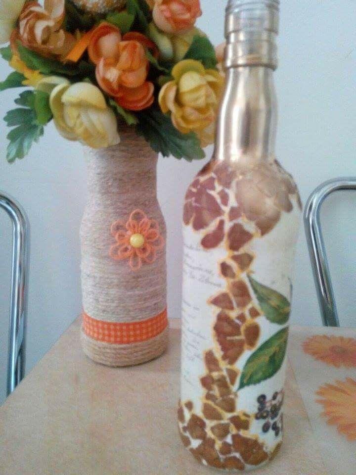 Sticla si vaza handmade