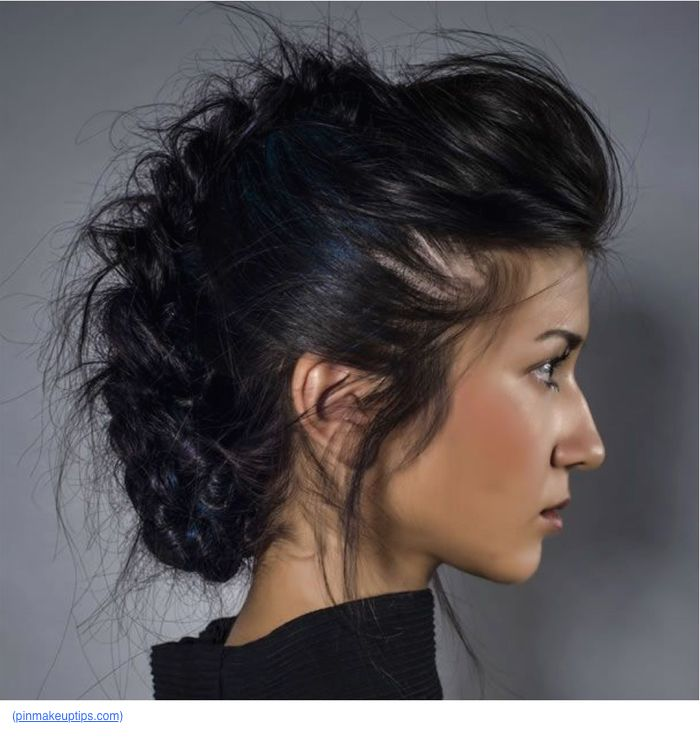 Fancy mohawk steps. Like a French braid but different.