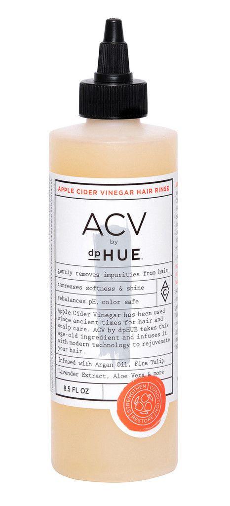 Rinsing hair in vinegar