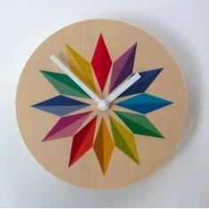 Objectify rainbow gems medium-sized wall clock