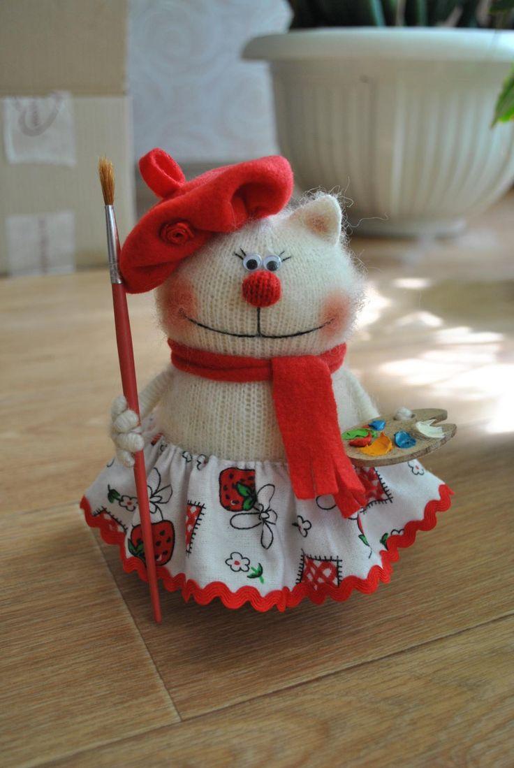 альбом lira28-схема вязания кошки