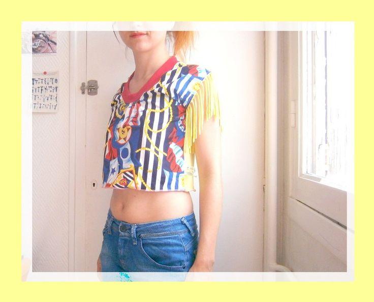 """t-shirt cropped """"mélisse""""  de Sauciflar et Calendos sur DaWanda.com"""