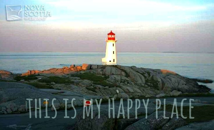 Pin if #PeggysCove, #NovaScotia, is your ‪#‎HappyPlace‬ too!  http://www.novascotiawebcams.com/en/webcams/peggys-cove-lighthouse/