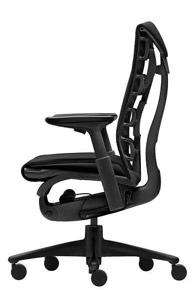 Embody Sillón de oficina de Herman Miller Con la silla de oficina Embody, el fabricante Herman Miller ha logrado marcar nuevos estándares en materia de ergonomía. La característica más destacada es el respaldo BackFit®, que, con su revolucionario diseño inspirado en la forma de la columna vertebral, se adapta a la complexión física de cualquier usuario. http://www.topdeq.es/topdeq/ProductDetail.action?R=8798197186561&N=4074