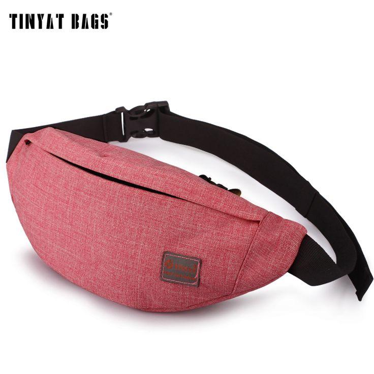 TINYAT Multifunctional Fanny Bag Casual Waist Pack Bag Seven Colors Belt bag Unisex Phone Belt Bag Coin Purse T201 -- For more information, visit image link.