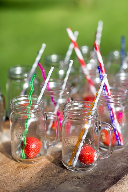 Toast to the perfect Summer party with these quirky #Kilner mugs and stripy straws. # summerlovin