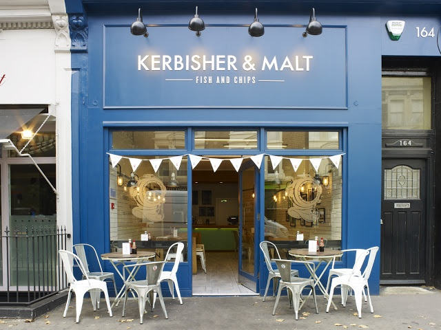 Kerbisher & Malt | West Kensington, London. Fish and chips first, Kensington Palace second. Got to have my priorities bhk : )
