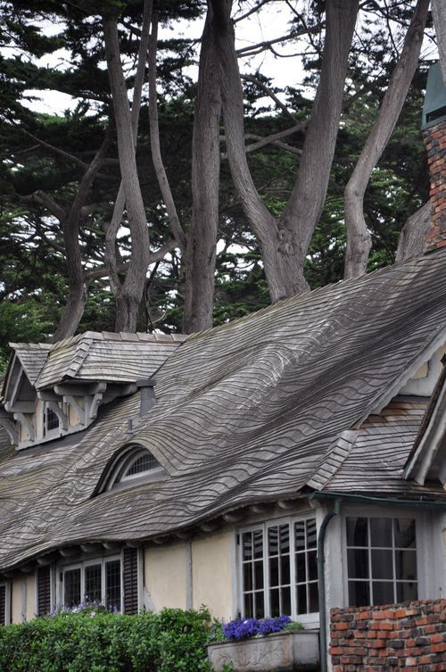 More beautiful homes in Carmel by the Sea - gingerbread/fairytale roofs and cottages
