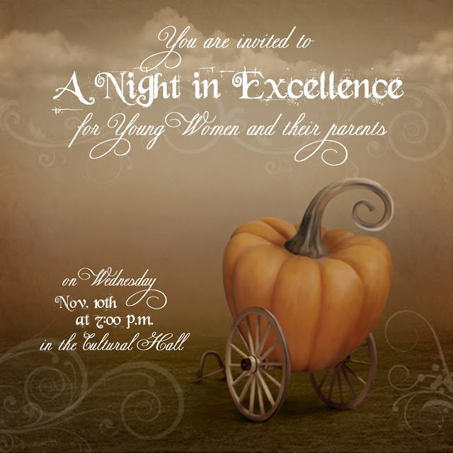 Cool invitation YW Night in Excellence
