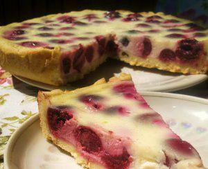 Вишневый пирог в сметанной заливке - кулинарный рецепт