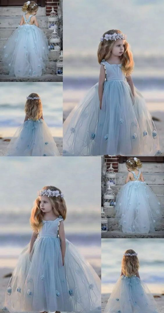 8c2813093c3 Princess Floor Length Flower Girl Dress Pageant Gown from dressydances