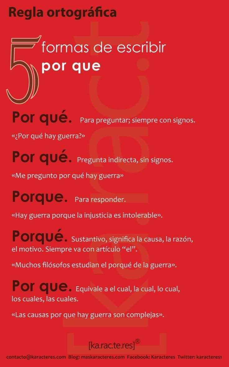 uso de porque #LearnLoveLiveSpanish