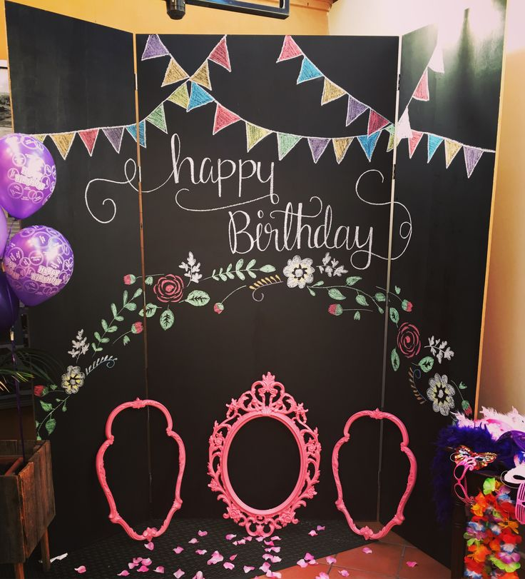 Our amazing chalkboard backdrop