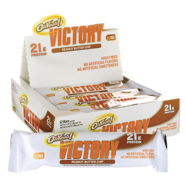 OhYeah Victory Bars  Peanut Butter Chip, 21 grams 12 / 2.29 oz Bar(s) AED373.00 #UAESupplements