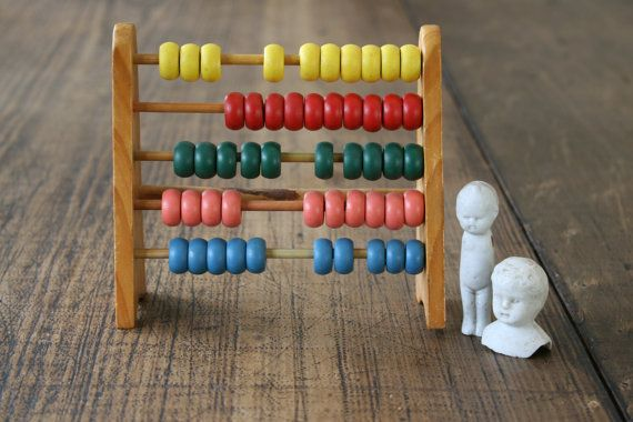 Vintage Wooden Abacus for Boys and Girls Christening by FoundByHer