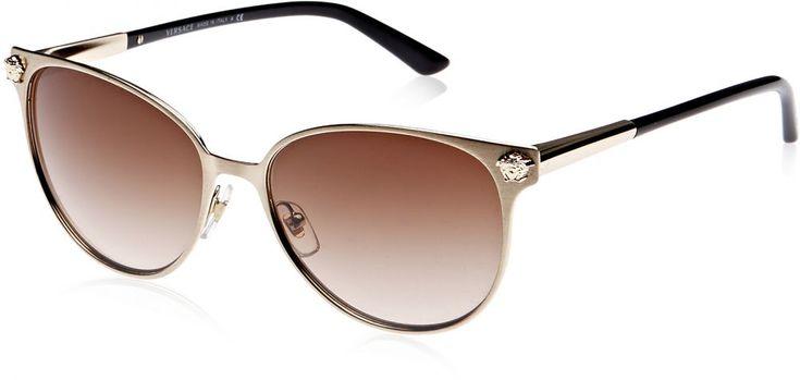 اشتري Versace Oval Women's Sunglasses - VE2168- 133913- 57 - 57 - 16 - 140 mm - نظارات | السعودية | سوق