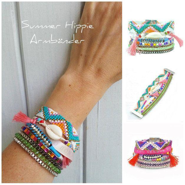 Armbänder - Hippie Armband Multistrands - ein Designerstück von Ladyville bei DaWanda
