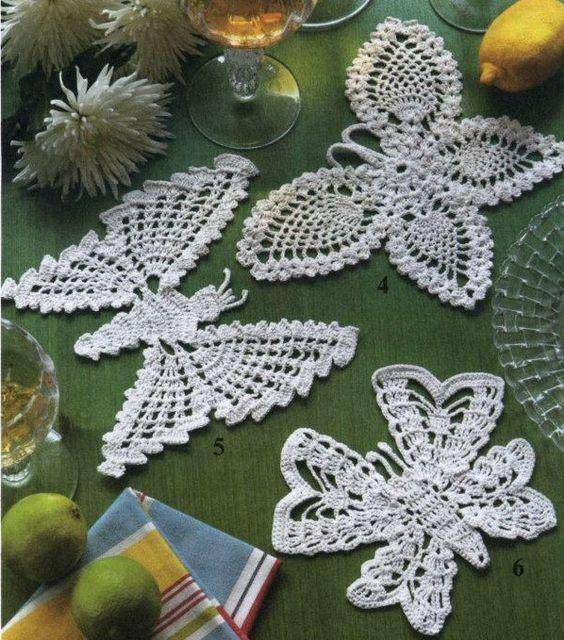 Les 25 meilleures images du tableau crochet papillons sur pinterest mod les de crochet - Modele de papillon ...