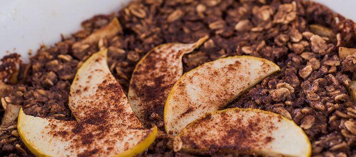 Una deliciosa combinación de manzana, pera y Avena Quaker<sup>®</sup> Tradicional al horno