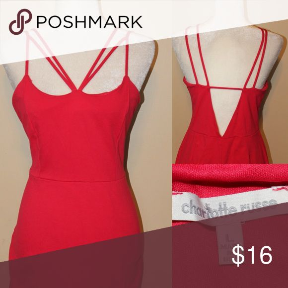 CHARLOTTE RUSSE sexy red body con dress Sexy red and straps little body con mini skirt perfect for Valentine's Day ❤️❤️ Dresses Mini