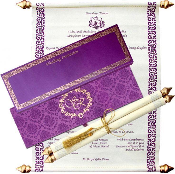 Scroll Wedding Cards